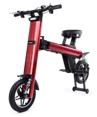 Bicicleta electrica ONEBOT T8, Viteza maxima 30 km/h, Autonomie 40-60 km, Motor 250 W, Far LED, Claxon puternic, Baterie Panasonic (Rosu)