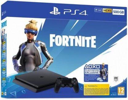 Consola Sony PlayStation 4 Slim 500GB + Fortnite Neo Versa (Negru)