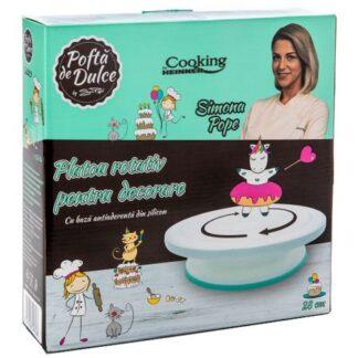 Platou rotativ baza antiaderenta Cooking by Heinner